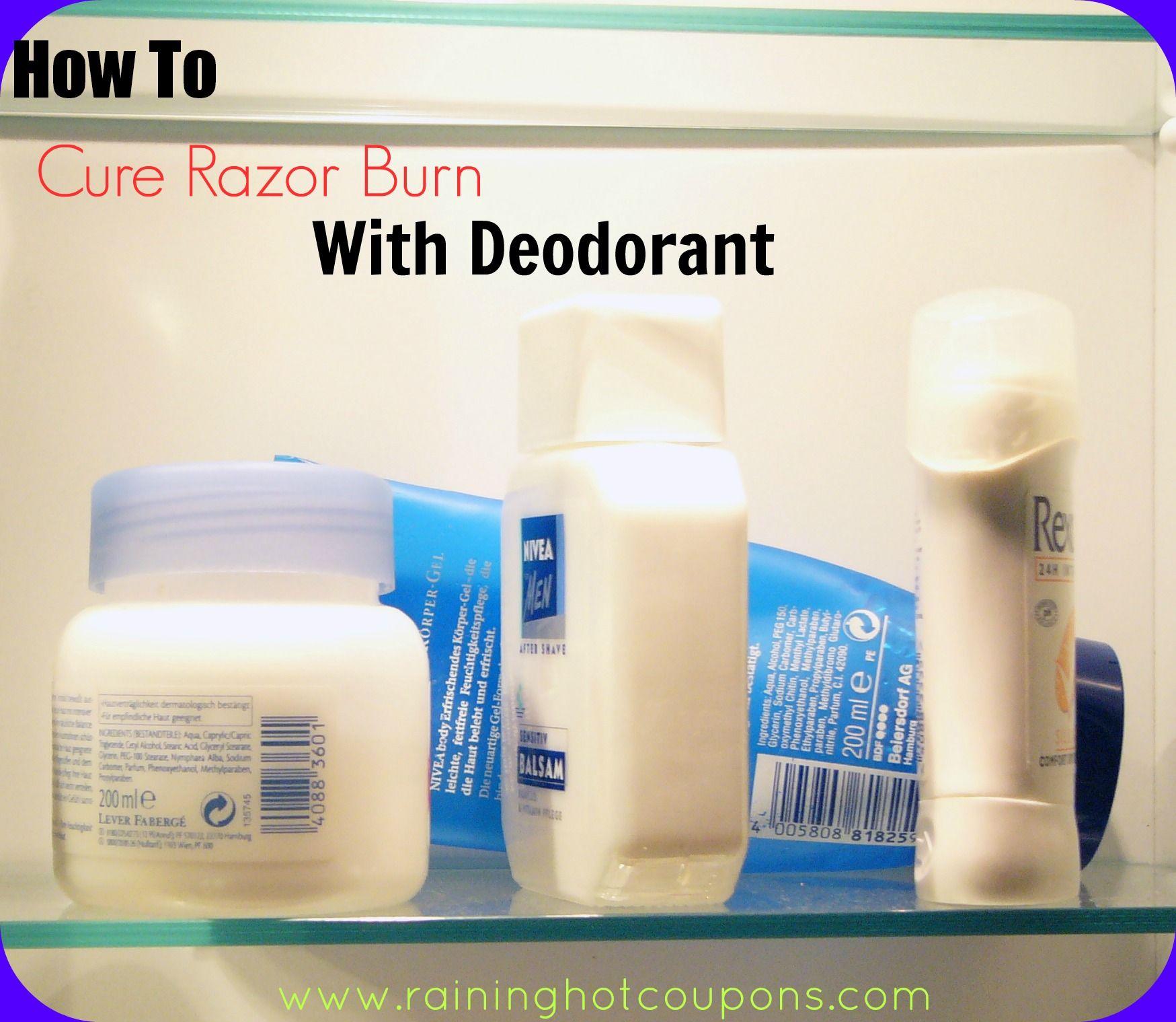 how to cure razor burn with deodorant | tips | pinterest | razor
