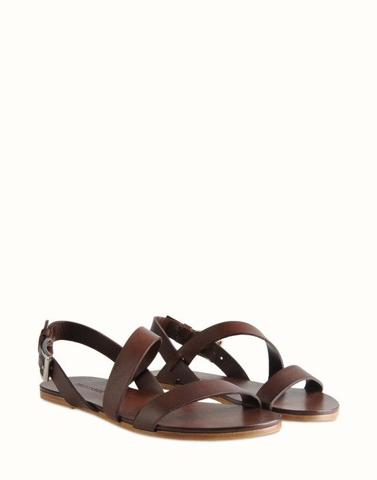 41f12faff779 Trussardi - Vegetal-tanned vacchetta leather sandal. Calf leather lining.  Natural sole. Material  calf leather Hardware  palladium-plated Artisan  made in ...