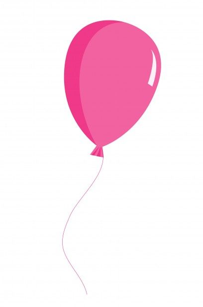 Balloons pink. Balloon clipart baby shower