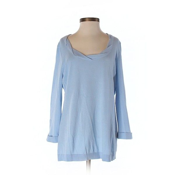 Pre-owned Ann Taylor LOFT Pullover Sweater Size 4: Light Blue ...