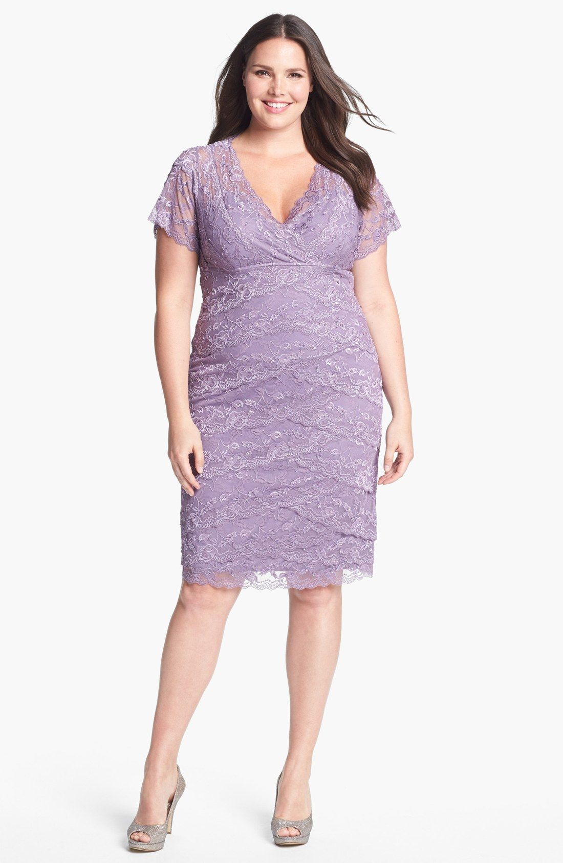 MARINA Tiered Lace Dress (Plus Size) | Nordstrom | Curvy Fashion/ My ...