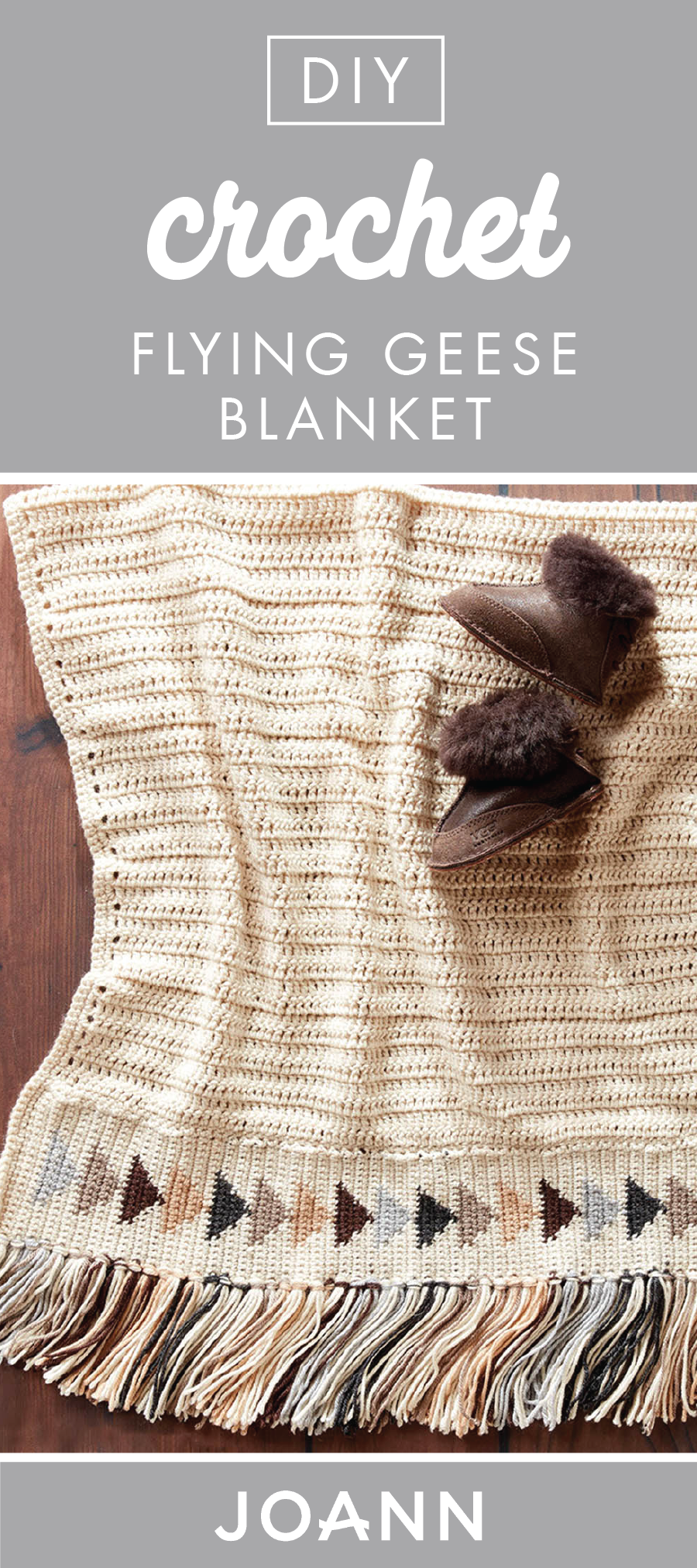 Full of handmade charm, this DIY Crochet Flying Geese Blanket ...