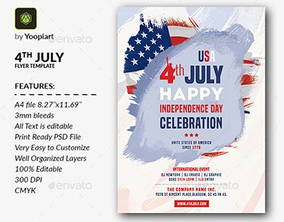 Check Out New Work On My Behance Portfolio 4th July Flyer