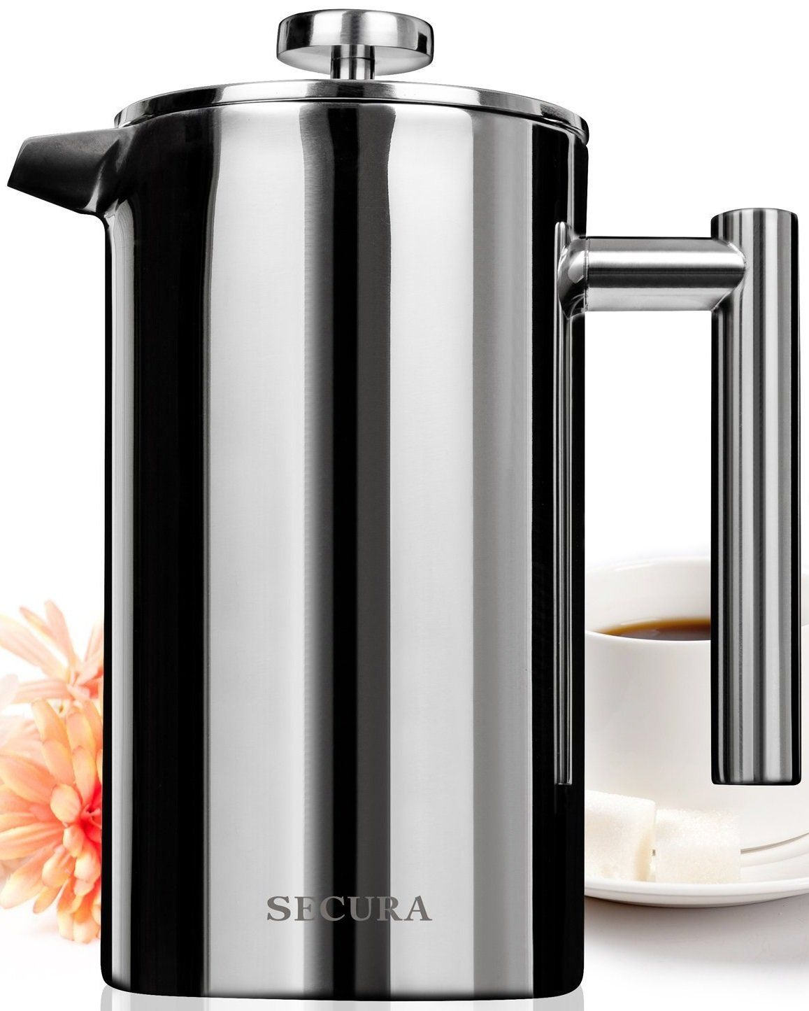 Secura stainless steel french press coffee maker bonus