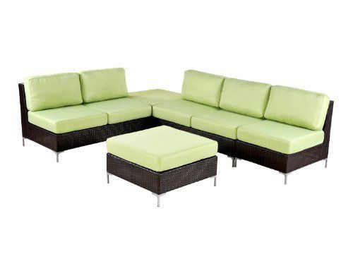 Angelo:HOME Napa 5 Piece Outdoor Furniture Set, Sage By Angelo:HOME