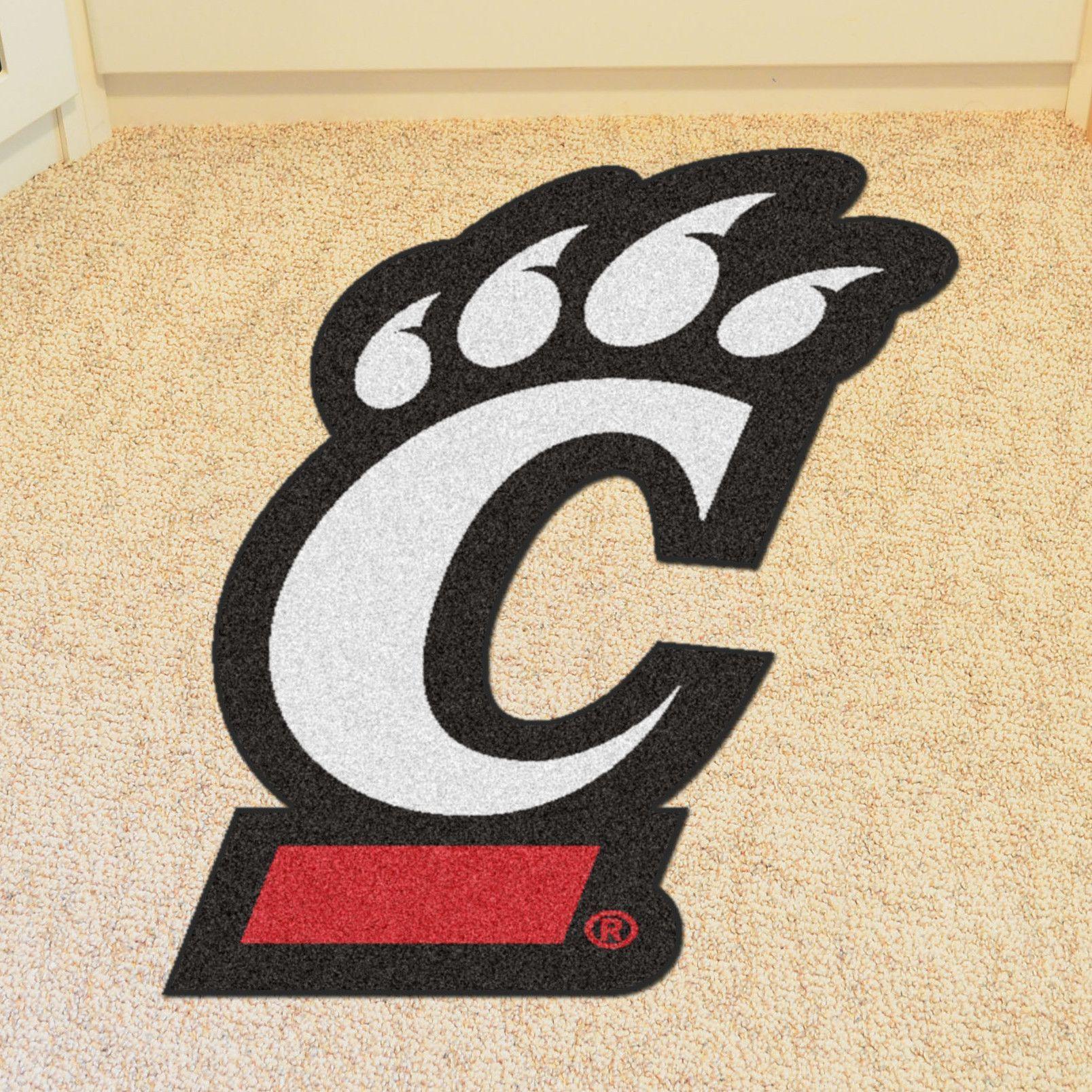 Ncaa University Of Cincinnati Mascot 40 In X 30 In Non Slip Indoor Only Mat Cincinnati Bearcats University Of Cincinnati Team Sports Gifts