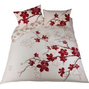 Living Blossom Red Cream Duvet Set Double At Argos Co Uk