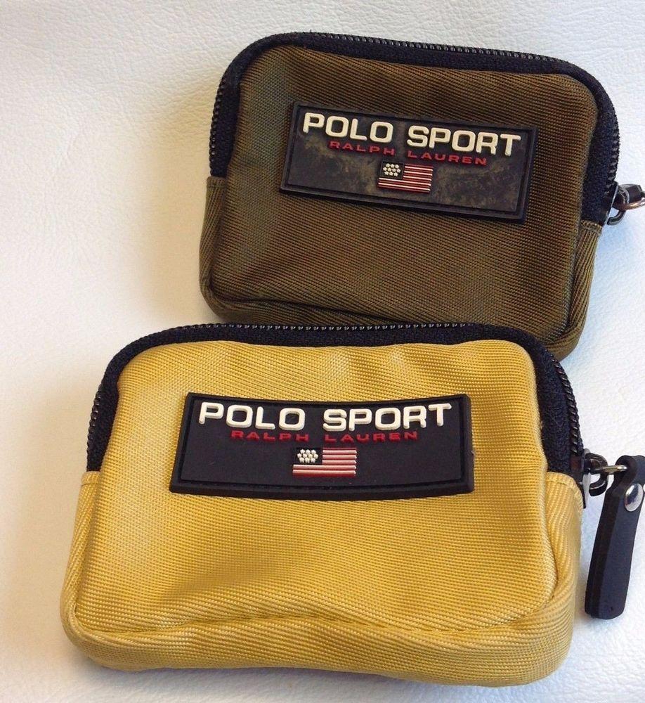 baaa8978a71 Vintage Polo Sport Ralph Lauren Zip Belt Pouch Keychain Coin Card Wallet  CHOICE  RalphLauren  CardCoinKeychainWallet