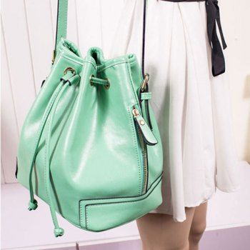 Cheap Wholesale New Arrival Rope and Stitching Design Crossbody Bag For Women (GREEN) At Price 20.45 - DressLily.com