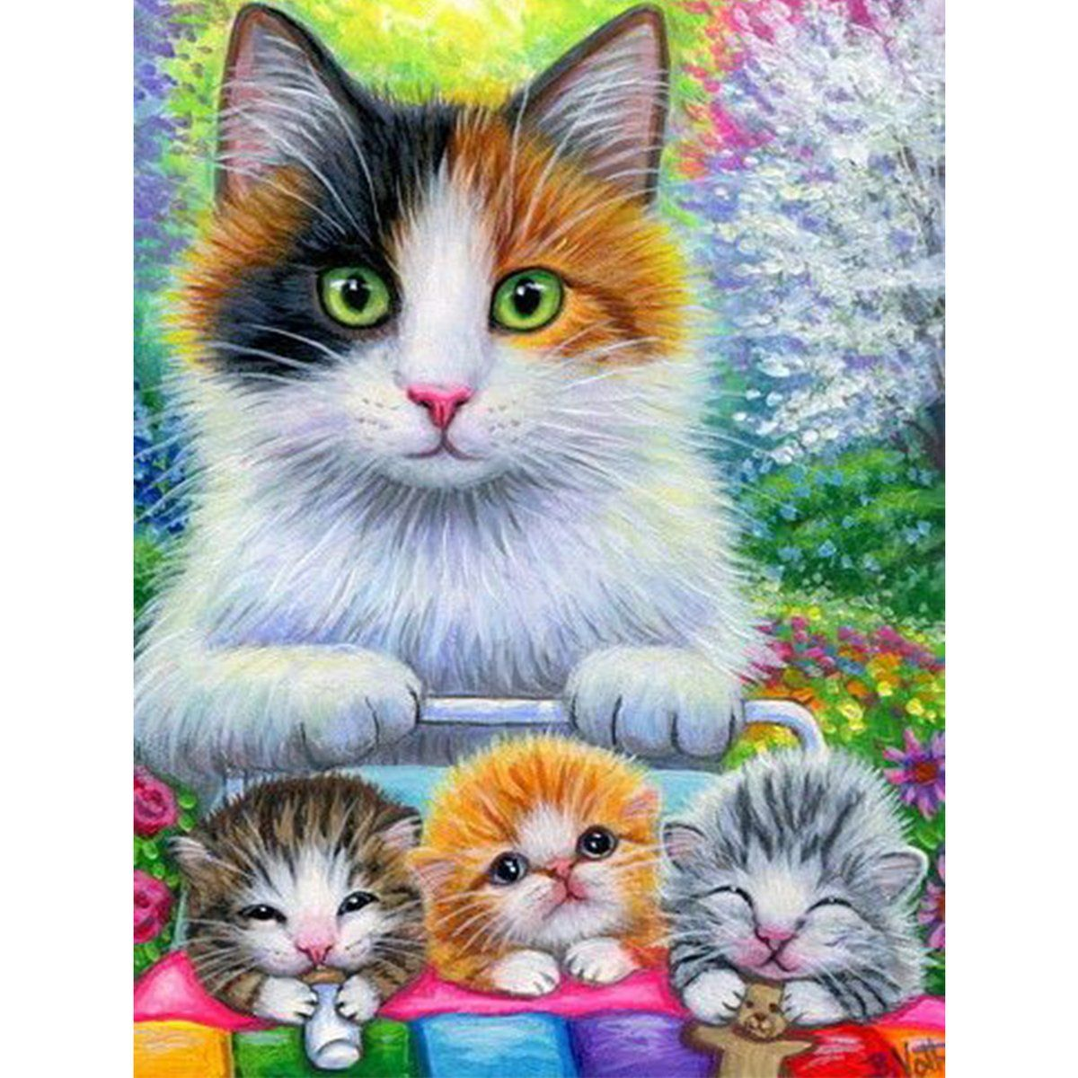 5d Diamond Painting A Cat Paint With Diamonds Art Crystal Craft Decor In 2020 Cat Painting Cat Art Cats And Kittens