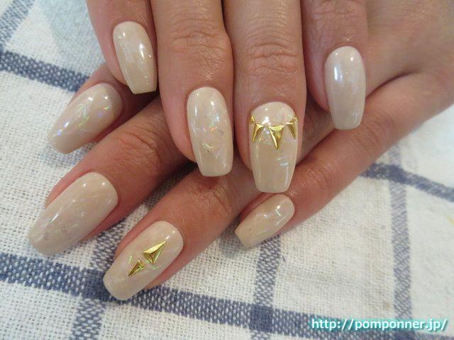 表面に置いたキラキラホイルアート #nail #nails
