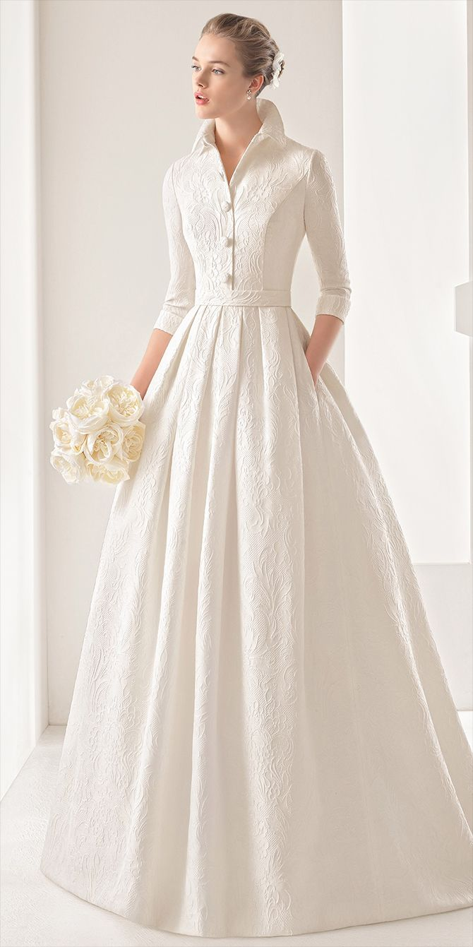 Brocade and Tulle Wedding Dresses