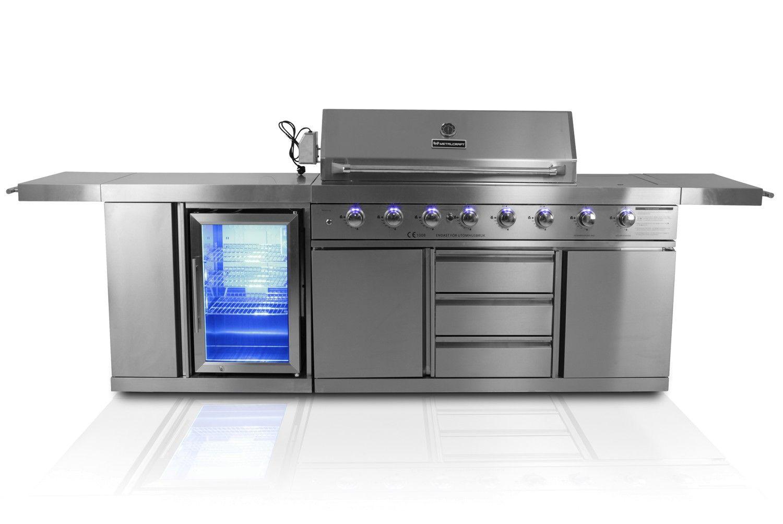 Outdoorküche Mit Kühlschrank Günstig : Outdoor küche edelstahl mit kühlschrank outdoor gartenküche mit