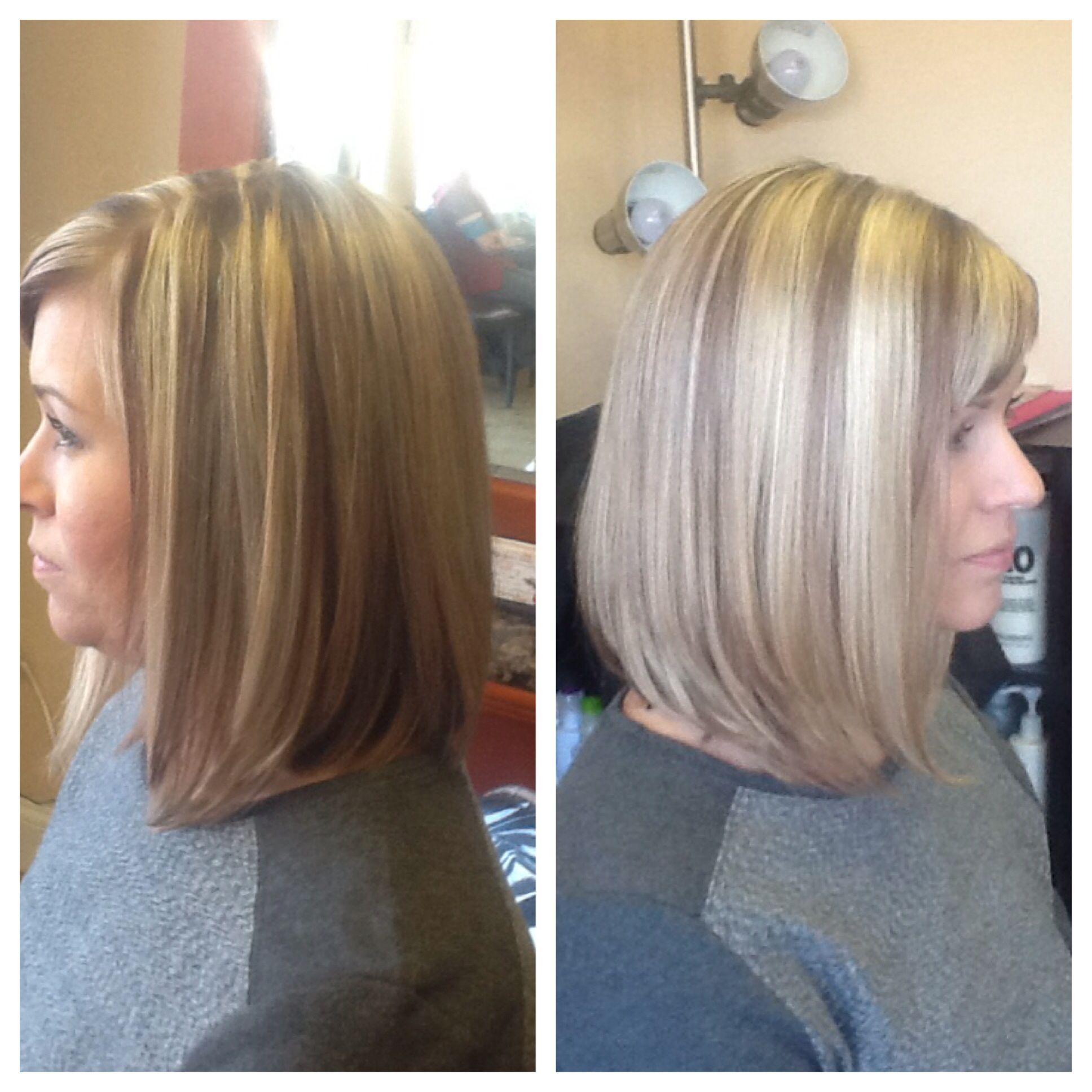 Long bob haircut and color by amber crouse michelleus salon u day