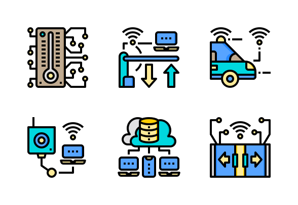 Smart City Color Line Icons By Phat Plus Smart City Color Lines Line Icon