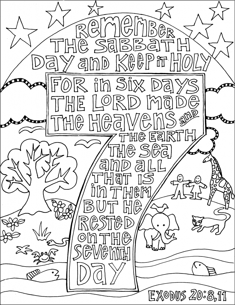 44++ I can keep the sabbath day holy coloring page free download