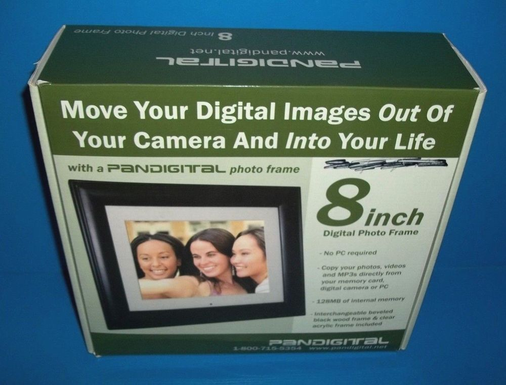 Pandigital 8 Inch Digital Photo Frame Dpf80 2 Complete In Box Tested