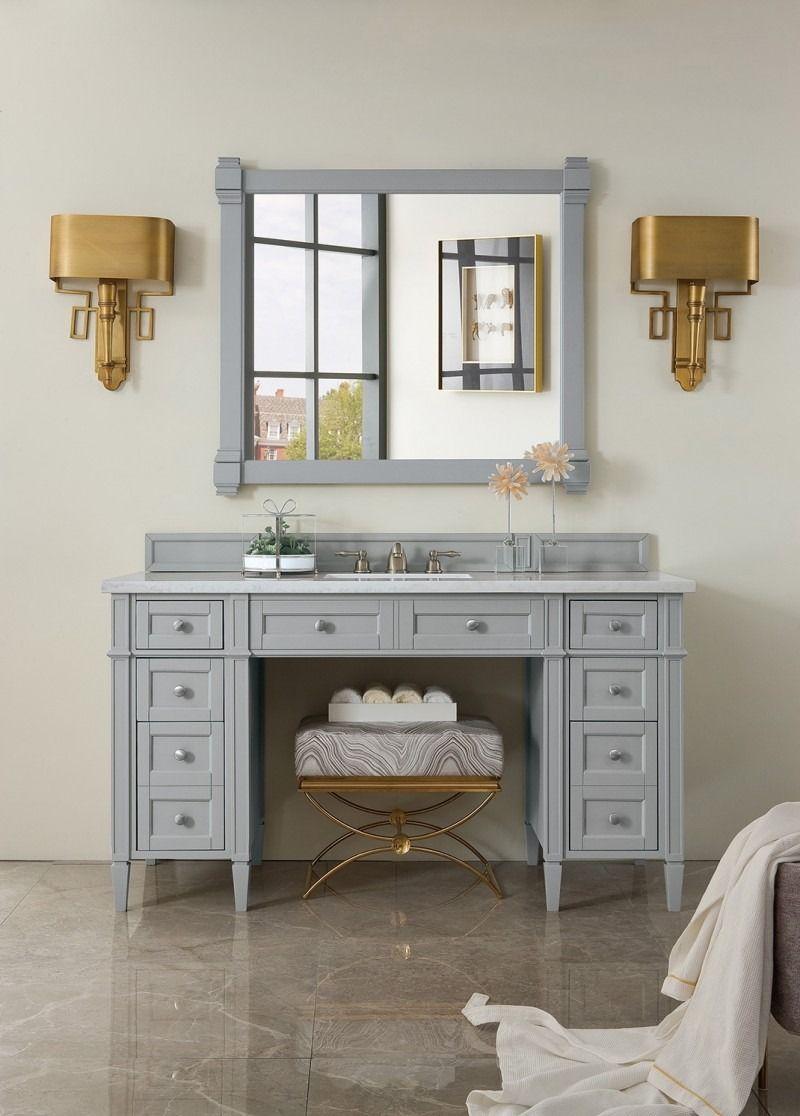Brittany 60 Single Sink Ada Bathroom Vanity Cabinet Urban Gray