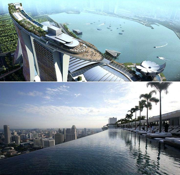 Marina bay sands hotel swimming pool singapore the - Singapore tallest building swimming pool ...