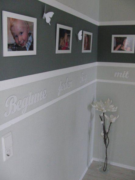 Flur/Diele \u0027Flur oben\u0027 Wohnung Pinterest Rich girl and Indoor - wandgestaltung streifen ideen