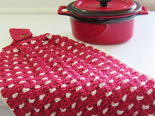 Block Stitch Kitchen Or Tea Towel Free Crochet Pattern Crochet