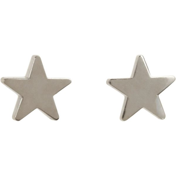 Jennifer Meyer Women's Star Studs (€250) ❤ liked on Polyvore featuring jewelry, earrings, accessories, fillers, colorless, clear crystal earrings, 18 karat gold earrings, white gold star earrings, clear earrings and 18 karat gold stud earrings