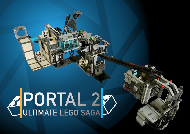 Portal 2 Lego Saga Moc Png 1 500 1 059 Pixels Portal 2 Portal Aperture Science