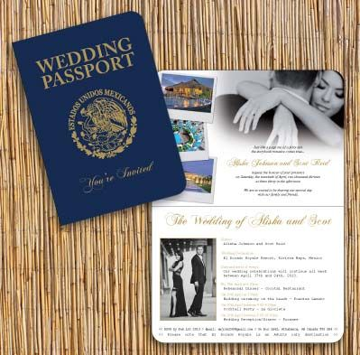 Passport Invitation Designed To Look Like A Realistic Mexican Passport For  A Wedding In Mexico By