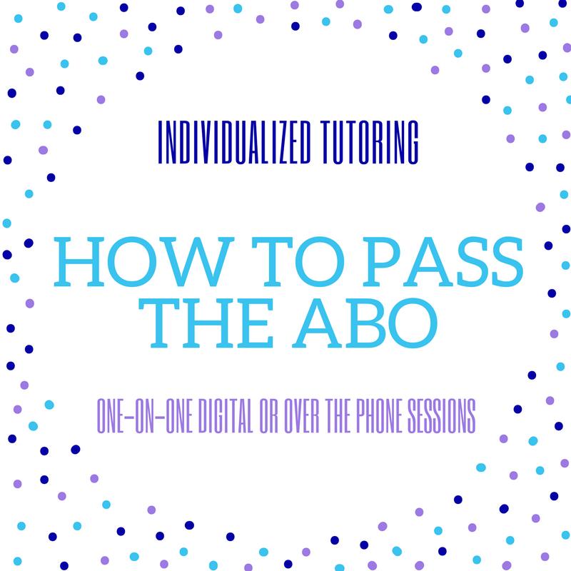 Individual Tutoring for ABO Exam