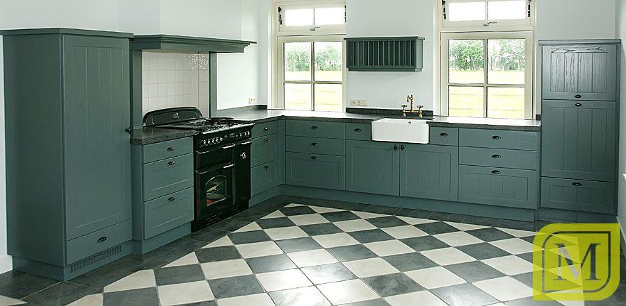 Klassieke keuken #groen #mint #interieur #maatwerk