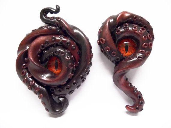 SALE Eye of Cthulhu Kraken tentacle and eye by ArkanaClothing