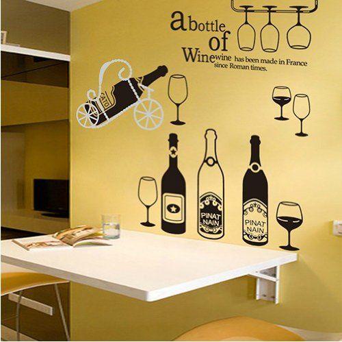 DIY Bar, KTV, Restaurant and Kitchen Decor Art Removable Wall Decals ...