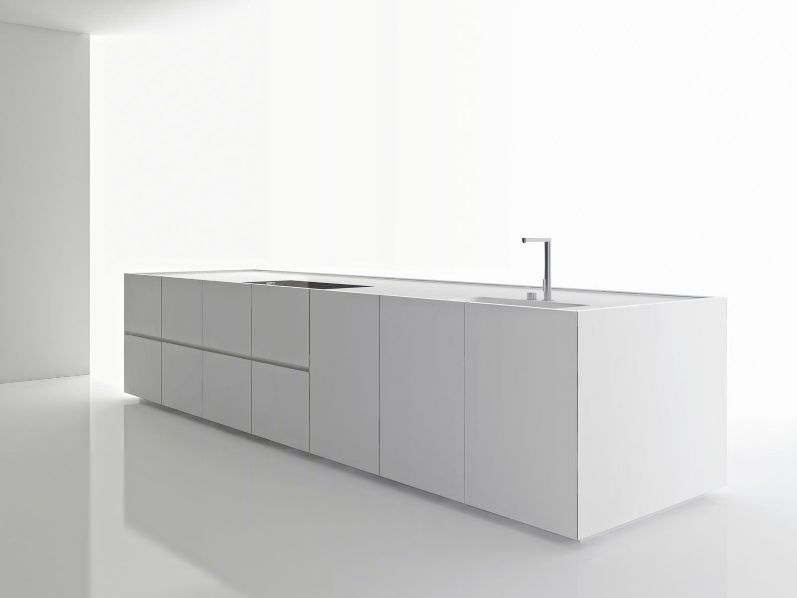Piano In Corian Cucina.Solid Surface Materiale High Tech Per La Cucina Interior