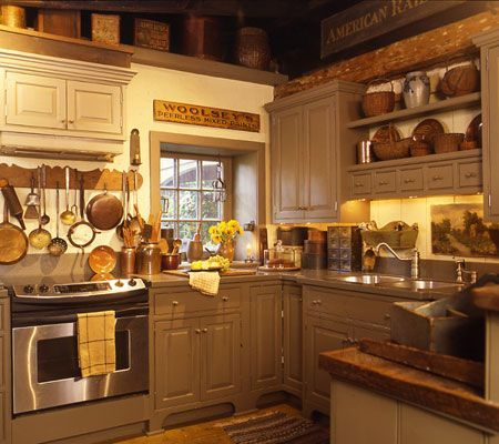 Primitive Country Kitchens | country kitchen | kitchens | Pinterest ...