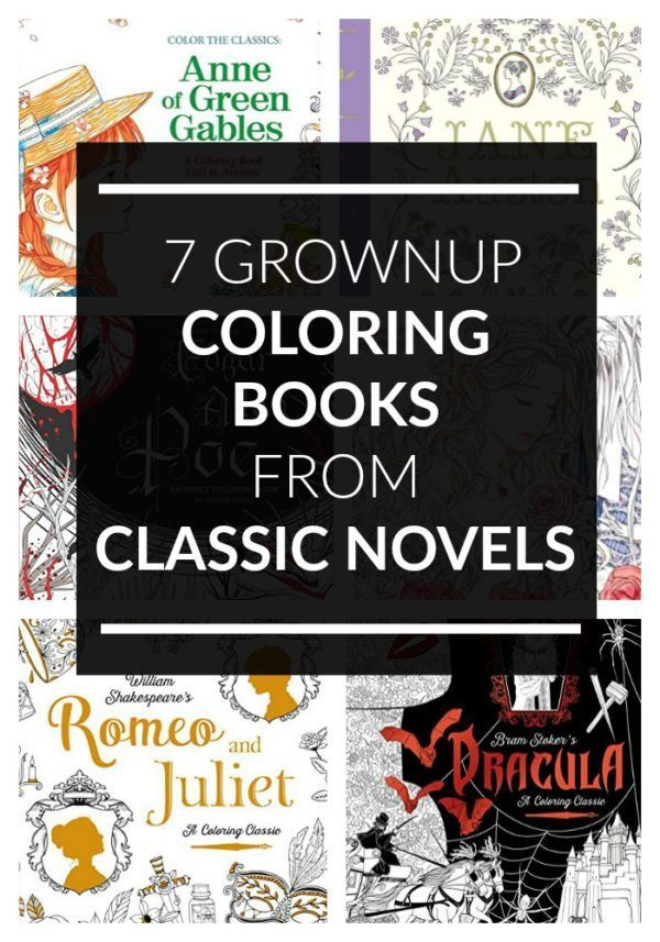 7 Amazing Coloring Books For Grown Ups Based On Classic Novels
