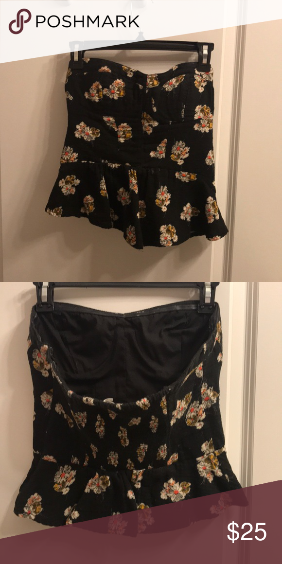 Superieur Black Cropped Tube Top From Urban Our Fitters Black With Floral Print,  White , Pink
