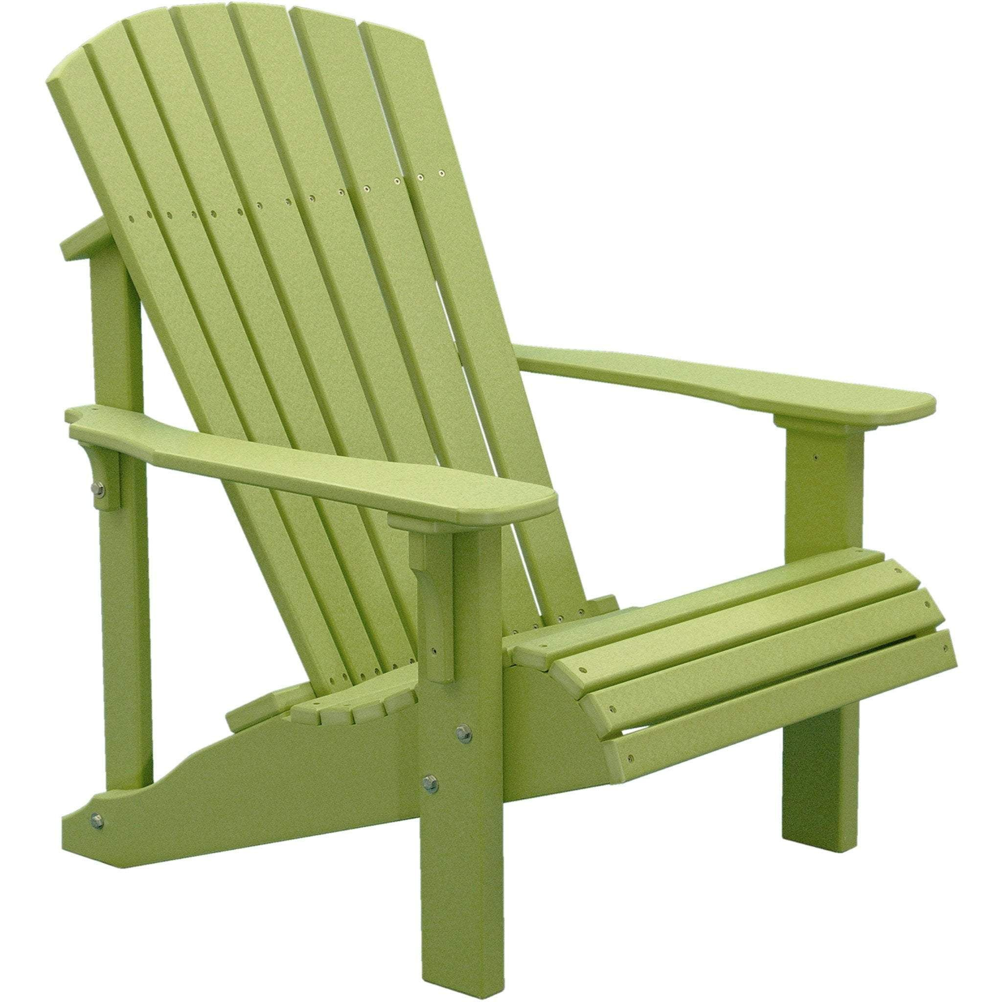 Luxcraft Deluxe Recycled Plastic Adirondack Chair Plastic