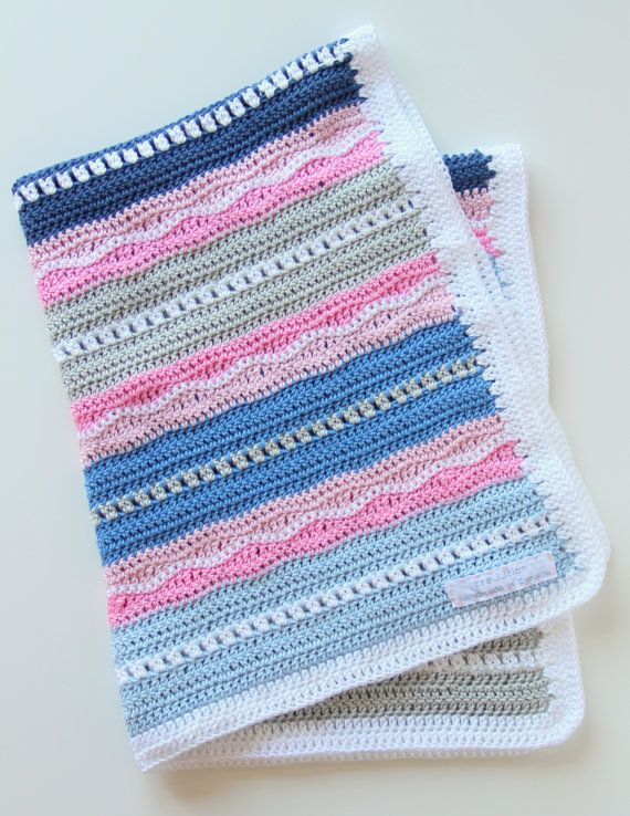 Crochet pattern newborn baby blanket | bordes y mantas de ganchillo ...