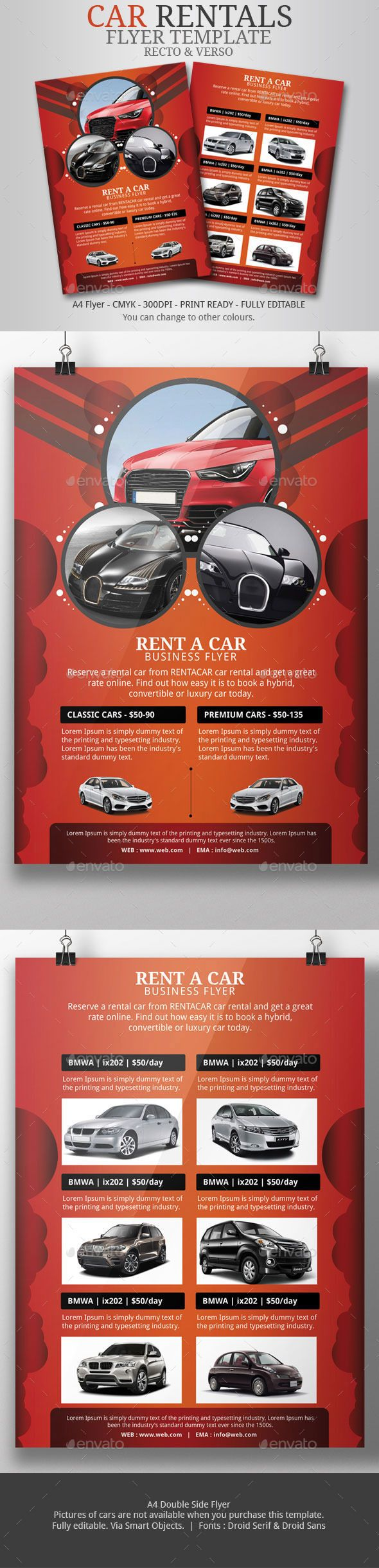 rent car flyer template psd templates template and. Black Bedroom Furniture Sets. Home Design Ideas