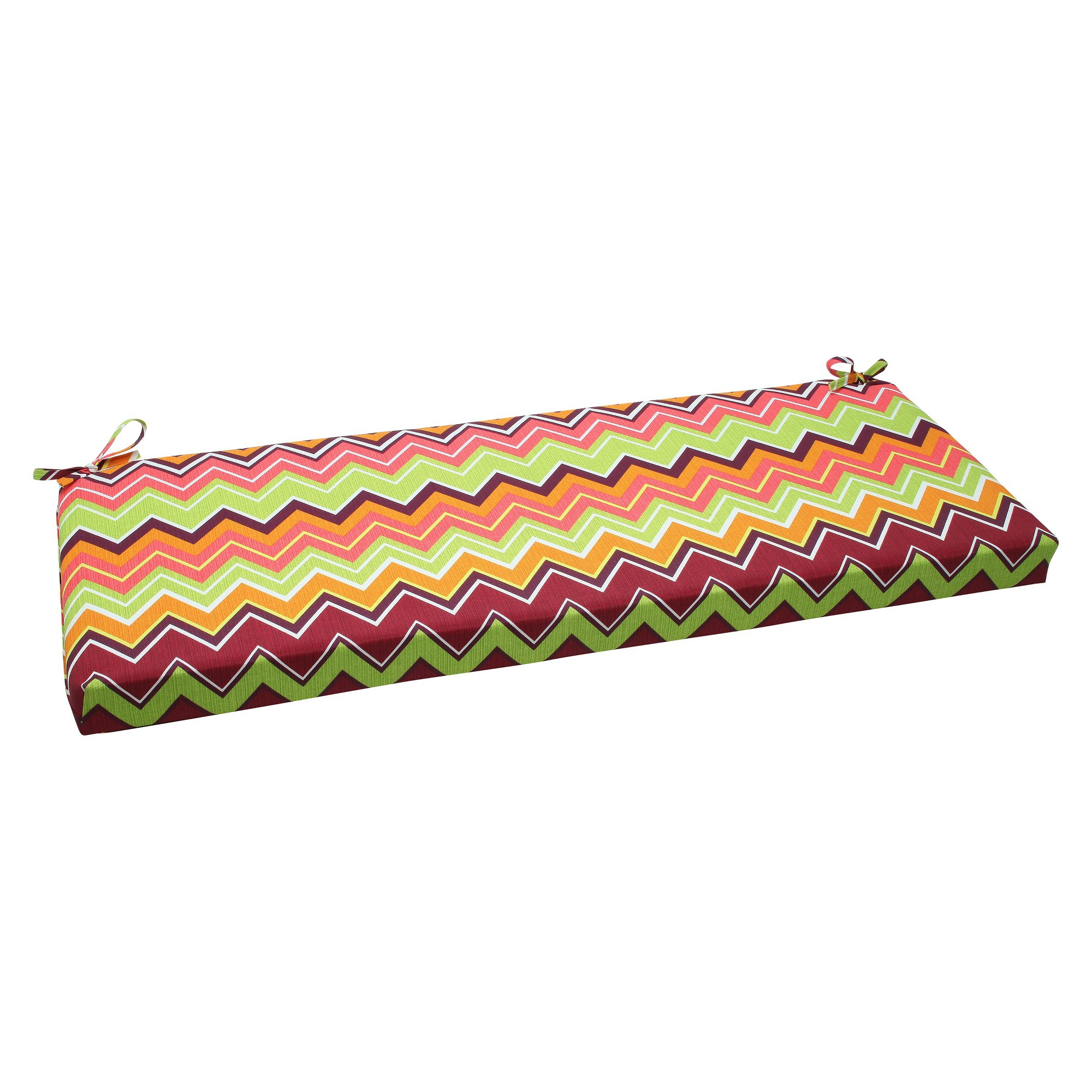 Outdoor seat pillow perfect bench cushion greenpink bench