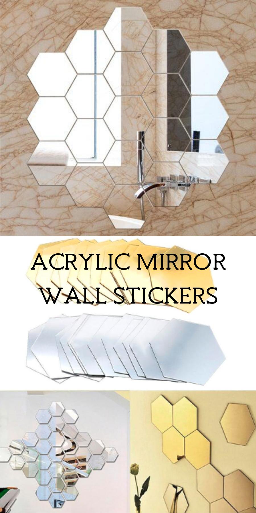 Photo of Acrylic mirror wall stickers Acrylic mirror Home decor idea