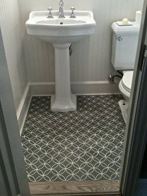 Interlocking Circle Pattern Using Cement Tile The Perfect Bath