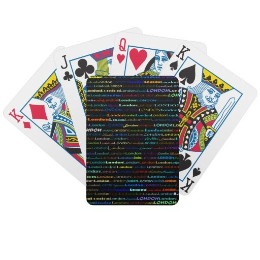 London Text Design I Playing Cards $25.15
