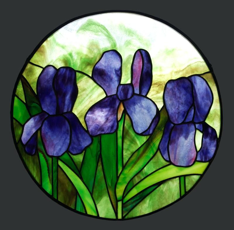 Stained Glass Iris Free Printable Stained Glass Projects