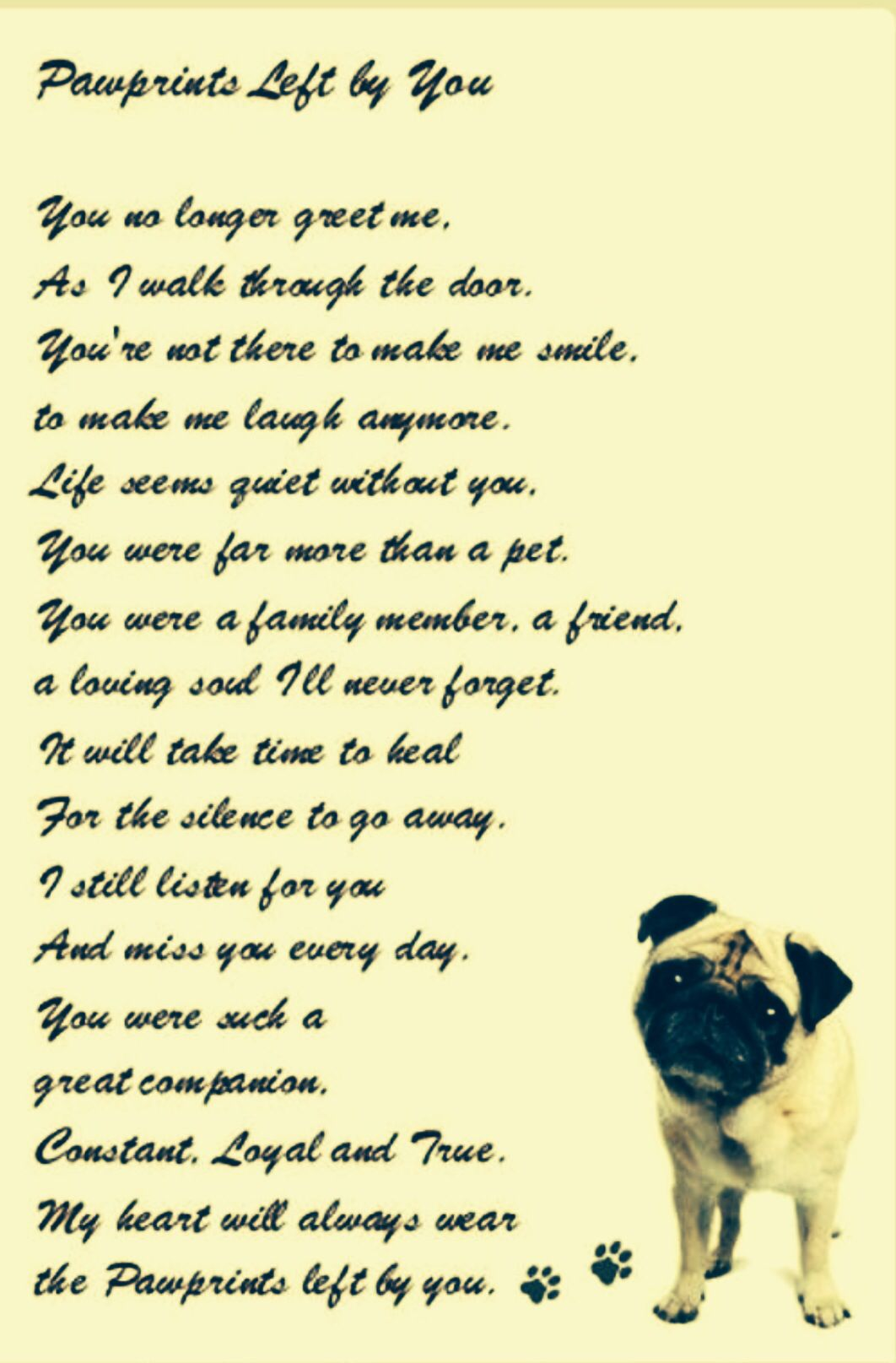 Rest in Peace, Kimber pug. | Dog poems, Dog quotes, Pet grief