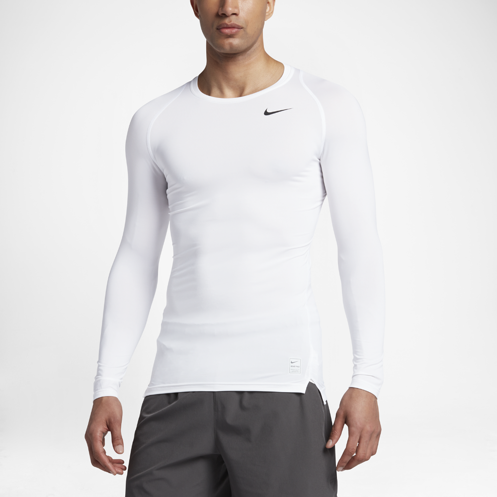fa145c4b989e95 Nike Pro Men s Long Sleeve Training Top Size Medium (White ...
