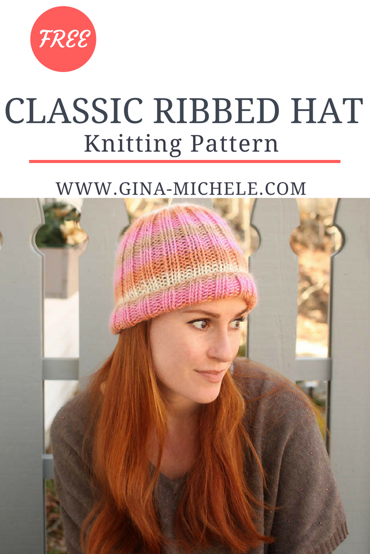 Classic Ribbed Hat Free Knitting Pattern | Pinterest | Gorros