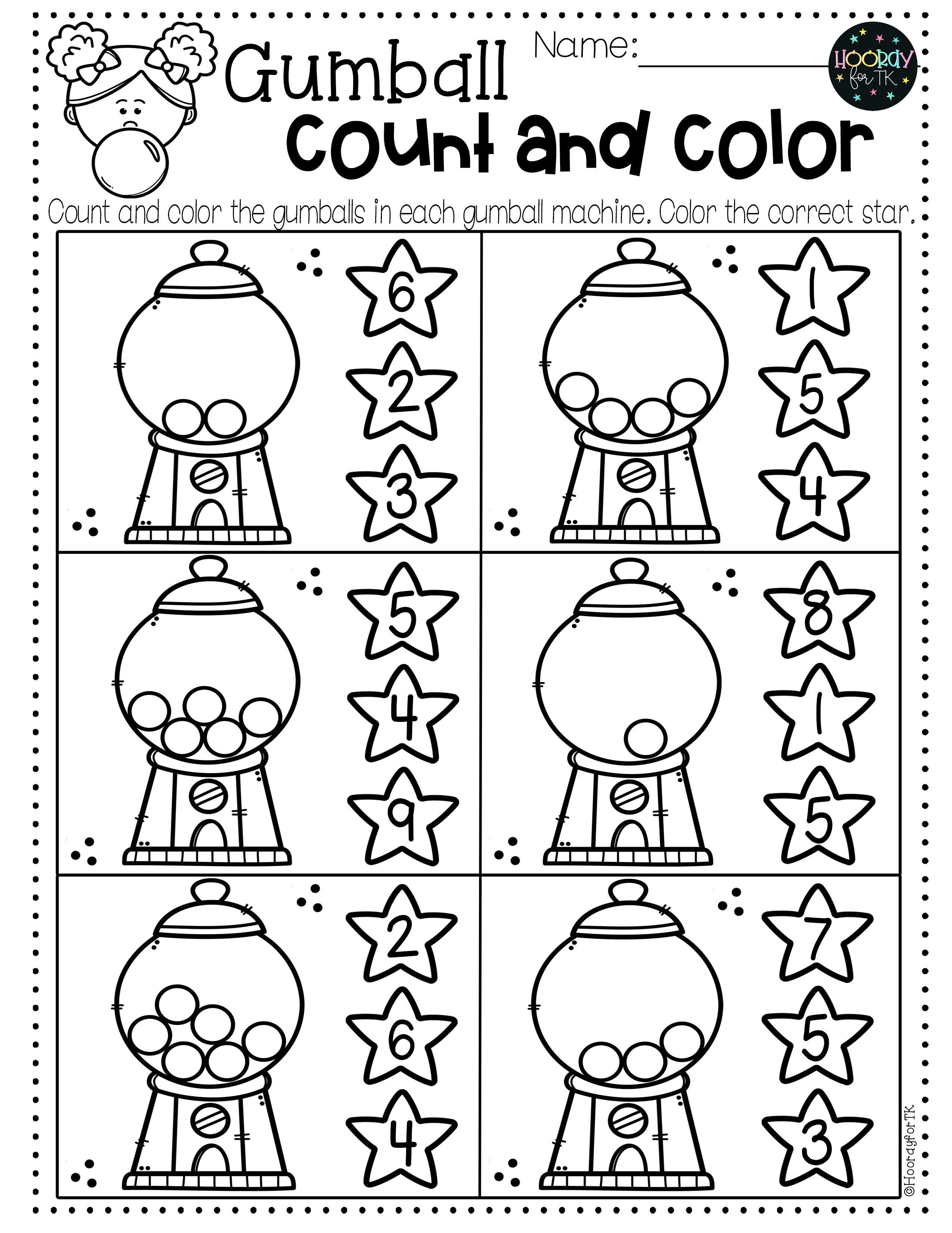 Preschool Back To School Worksheets In
