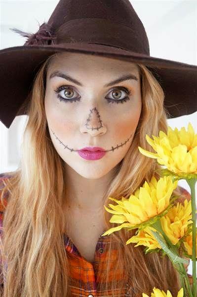 10 maquillages d\u0027Halloween de dernière minute Costumes, Halloween - scarecrow halloween costume ideas