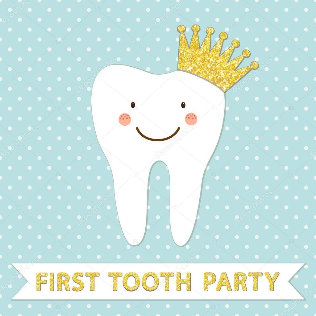Симпатичный первый детский зубной пригласительный билет на ...  Пригласительный Билет В Клуб